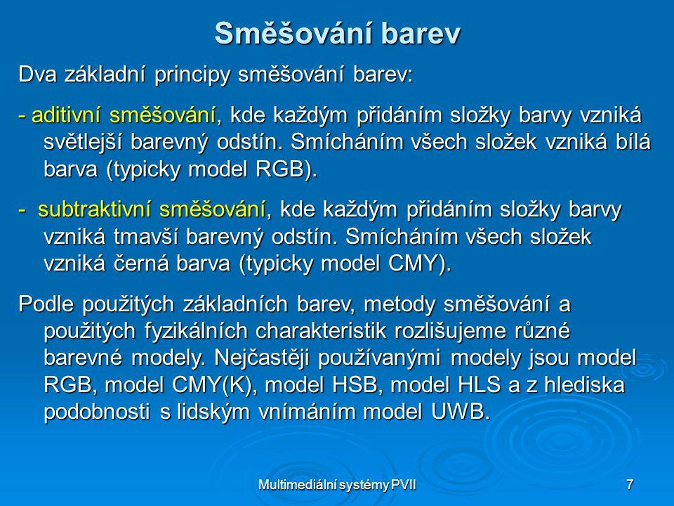 Multimediální systémy PVII