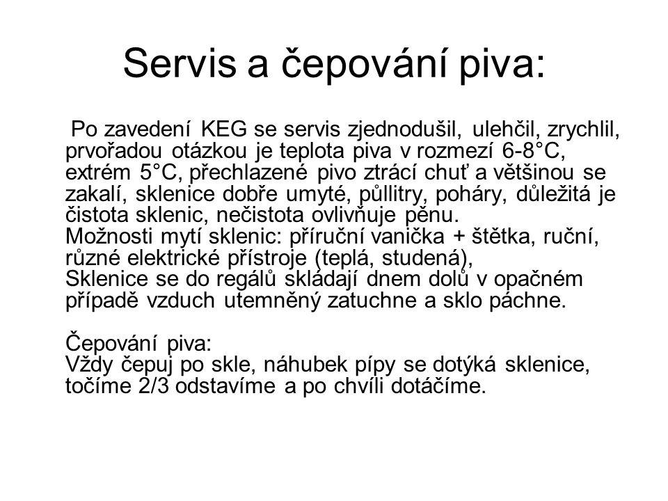 Servis a čepování piva: