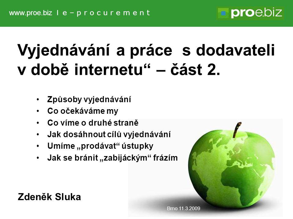 Vyjednávání a práce s dodavateli v době internetu – část 2.