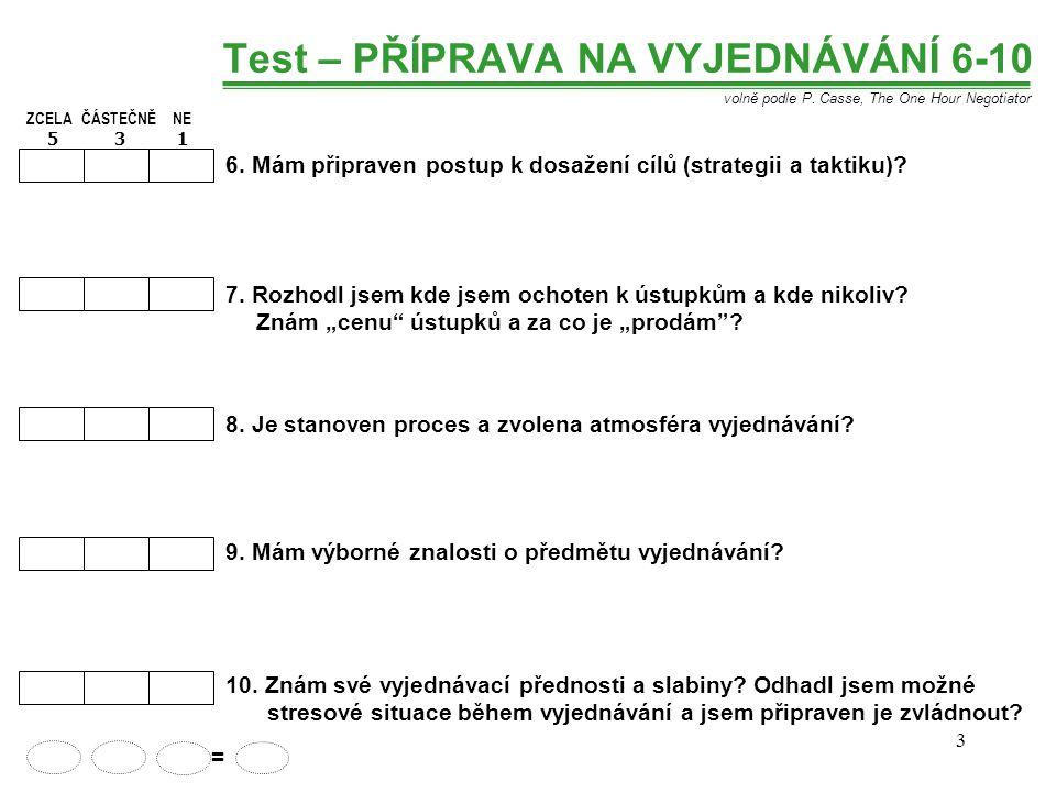 Test – PŘÍPRAVA NA VYJEDNÁVÁNÍ 6-10