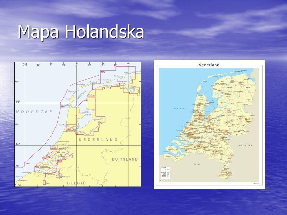 Mapa Holandska