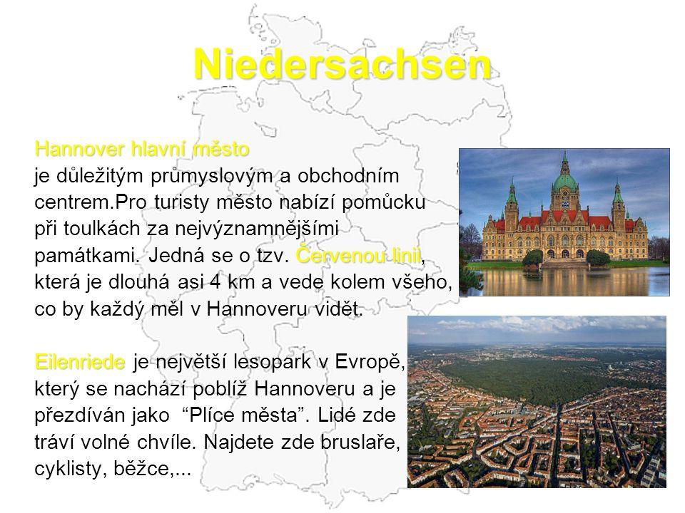 Niedersachsen Hannover hlavní město
