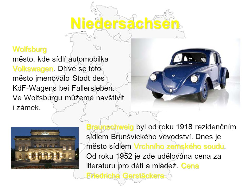 Niedersachsen Wolfsburg město, kde sídlí automobilka