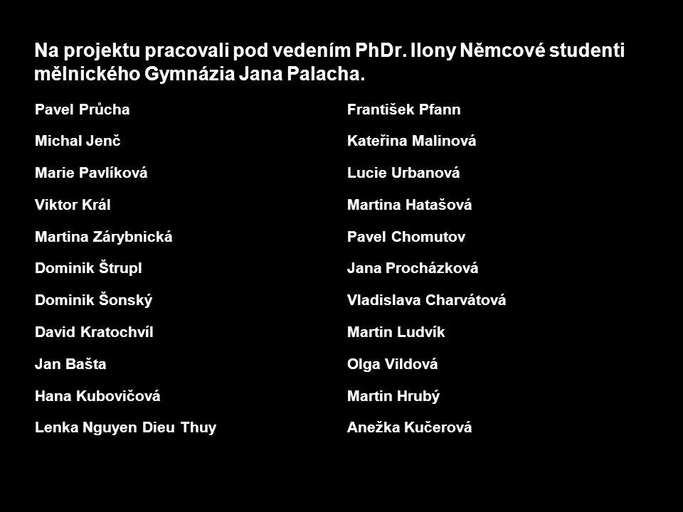 Na projektu pracovali pod vedením PhDr