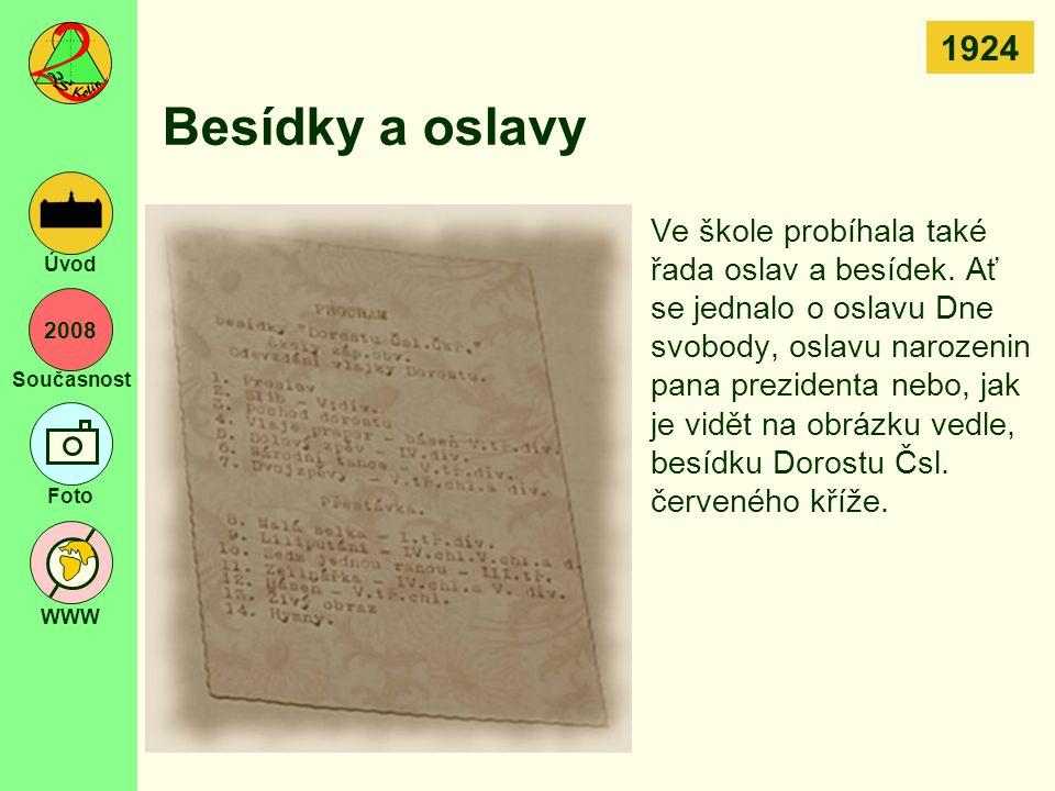1924 Besídky a oslavy.