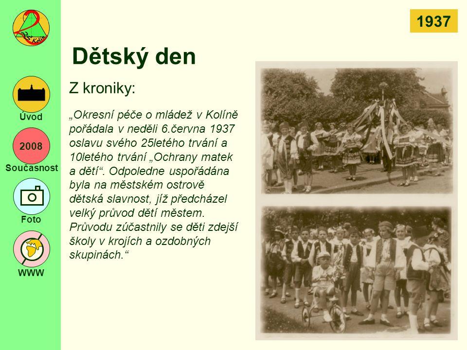1937 Dětský den. Z kroniky: