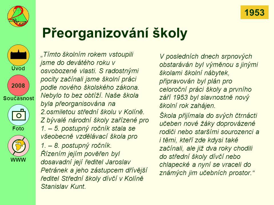 Přeorganizování školy