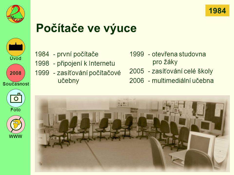 Počítače ve výuce 1984 1984 - první počítače