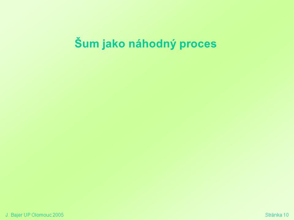 Šum jako náhodný proces