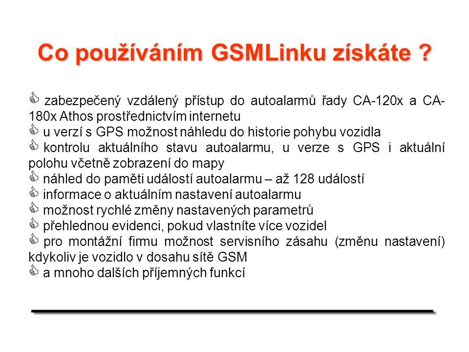 Co používáním GSMLinku získáte