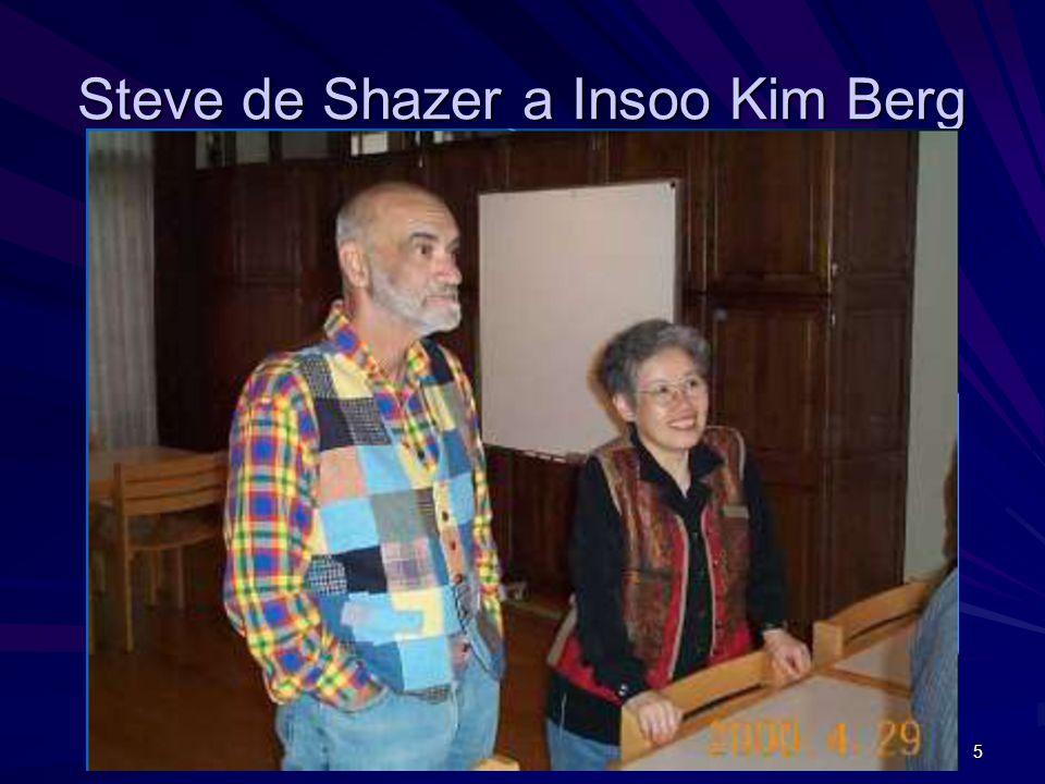 Steve de Shazer a Insoo Kim Berg