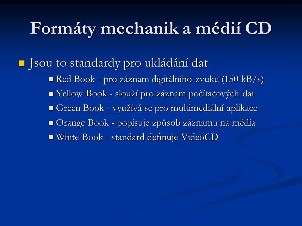 Formáty mechanik a médií CD
