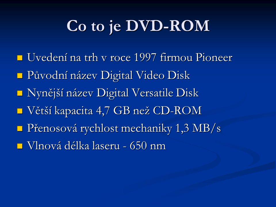 Co to je DVD-ROM Uvedení na trh v roce 1997 firmou Pioneer