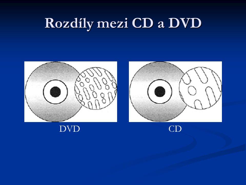Rozdíly mezi CD a DVD DVD CD
