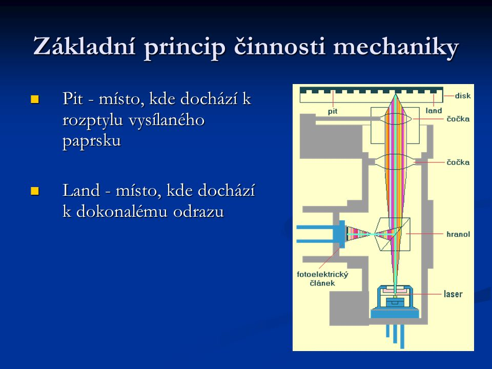 Základní princip činnosti mechaniky