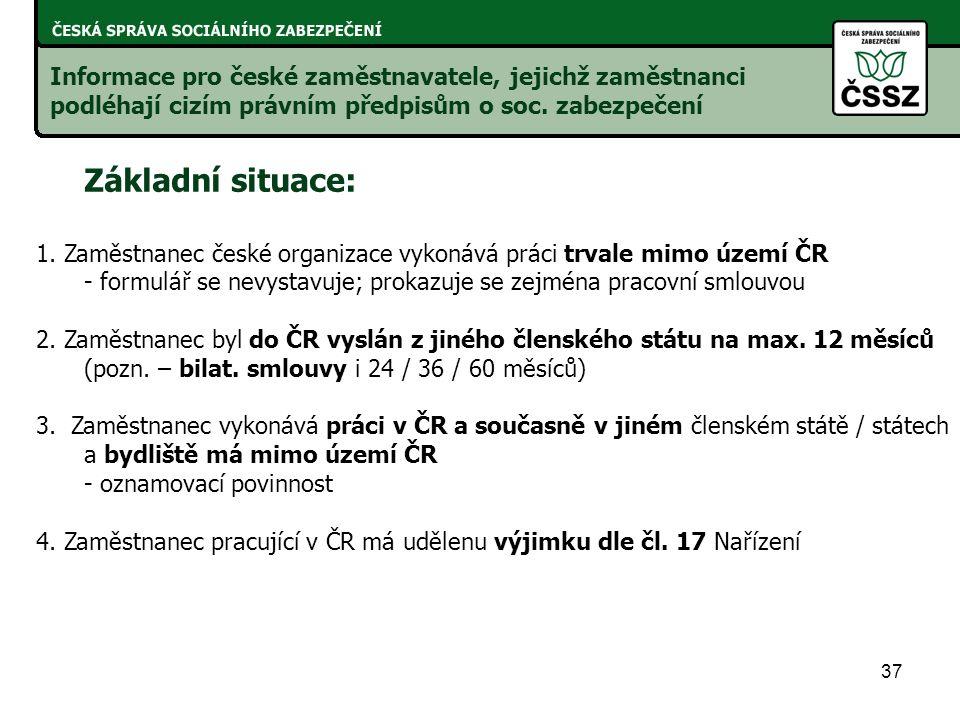 Informace pro české zaměstnavatele, jejichž zaměstnanci