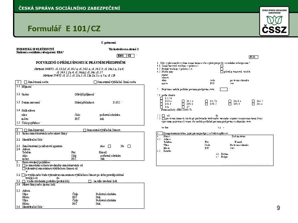 Formulář E 101/CZ