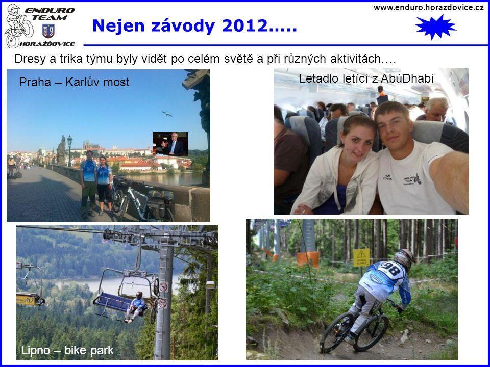 www.enduro.horazdovice.cz Nejen závody 2012….. Dresy a trika týmu byly vidět po celém světě a při různých aktivitách….