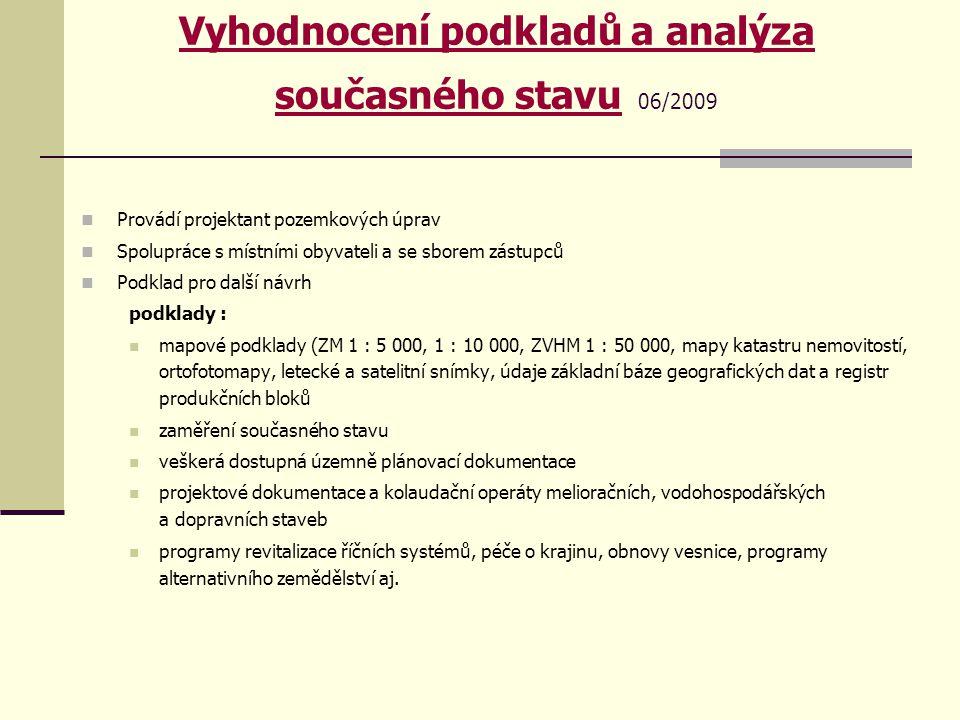 Vyhodnocení podkladů a analýza současného stavu 06/2009