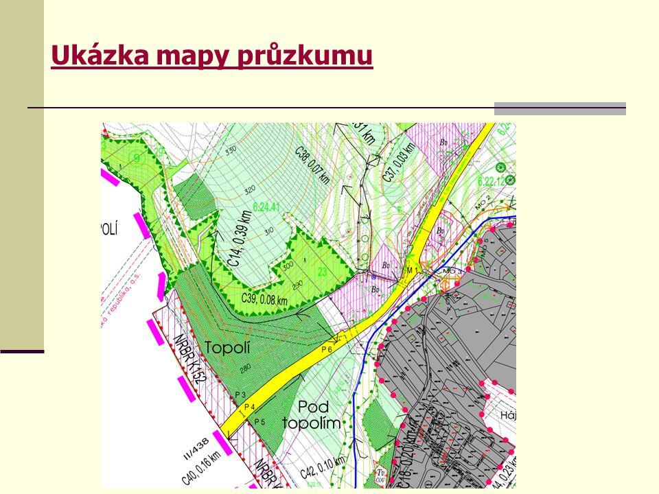 Ukázka mapy průzkumu