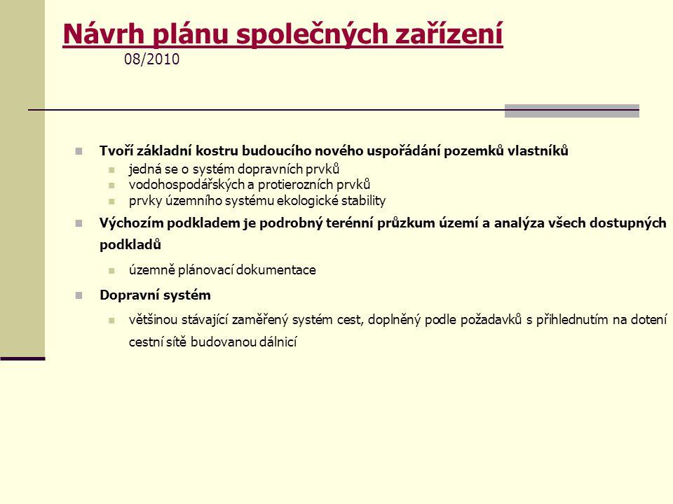 Návrh plánu společných zařízení 08/2010