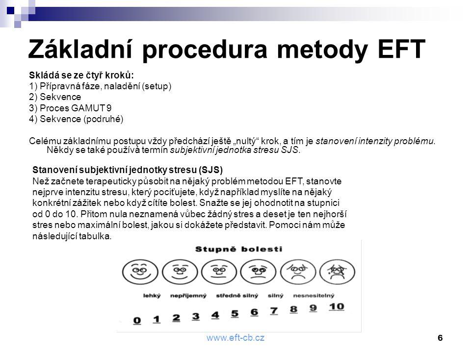 Základní procedura metody EFT
