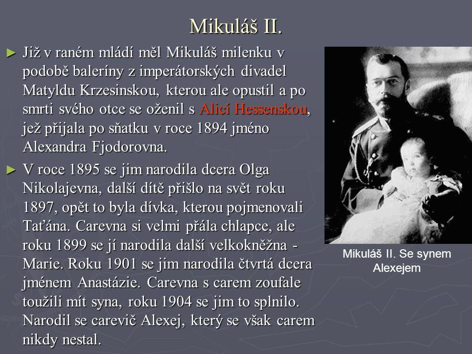 Mikuláš II. Se synem Alexejem