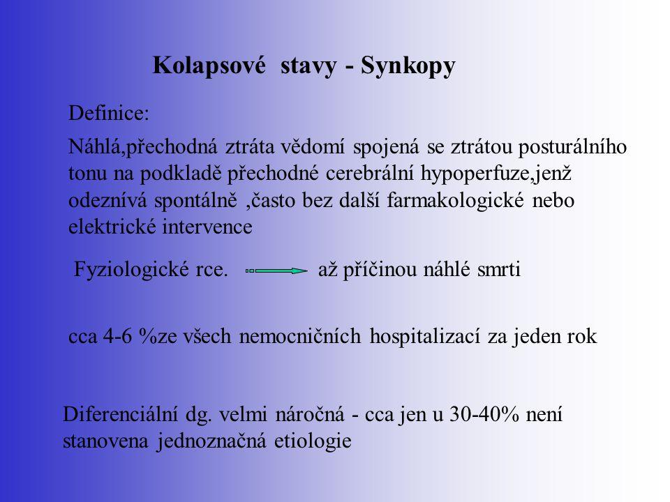 Kolapsové stavy - Synkopy