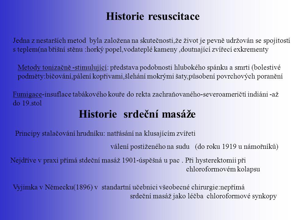 Historie srdeční masáže