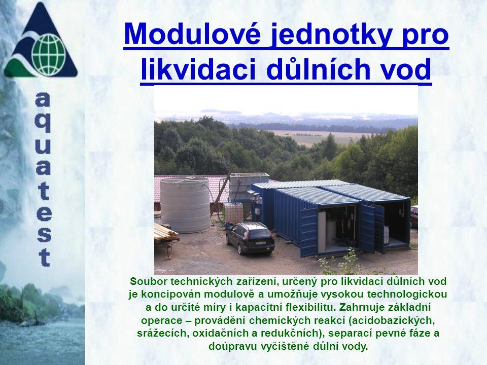 Modulové jednotky pro likvidaci důlních vod