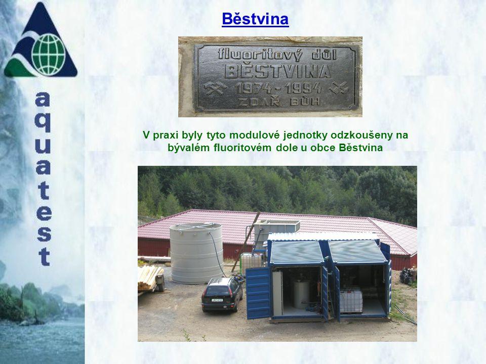 Běstvina V praxi byly tyto modulové jednotky odzkoušeny na bývalém fluoritovém dole u obce Běstvina