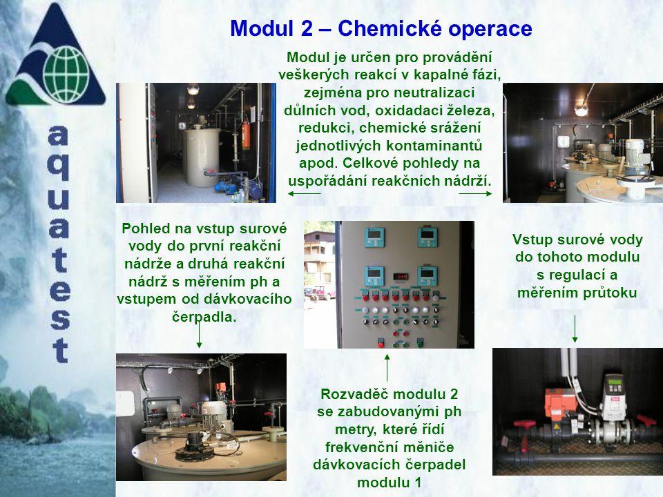 Modul 2 – Chemické operace