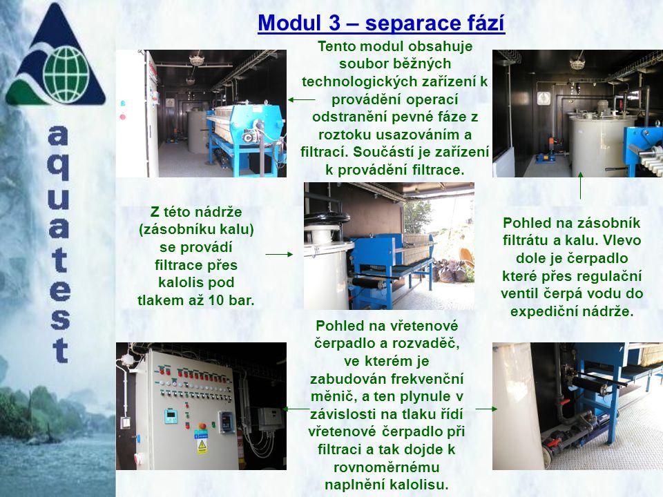Modul 3 – separace fází