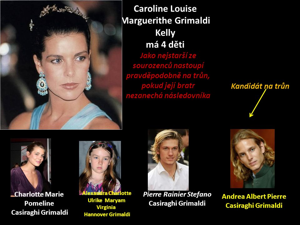 Caroline Louise Marguerithe Grimaldi Kelly má 4 děti