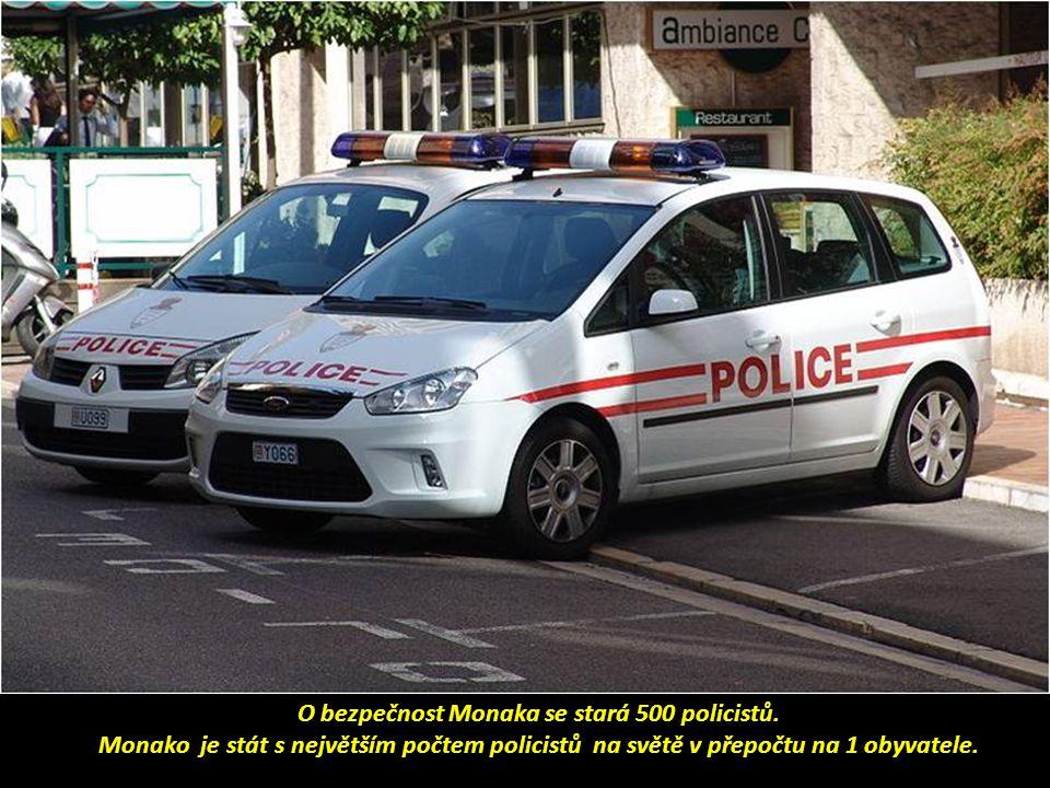 O bezpečnost Monaka se stará 500 policistů.