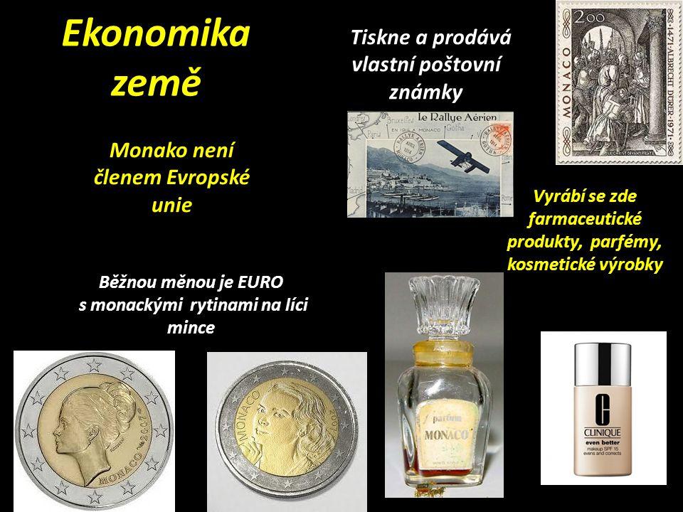 Ekonomika země Tiskne a prodává vlastní poštovní známky