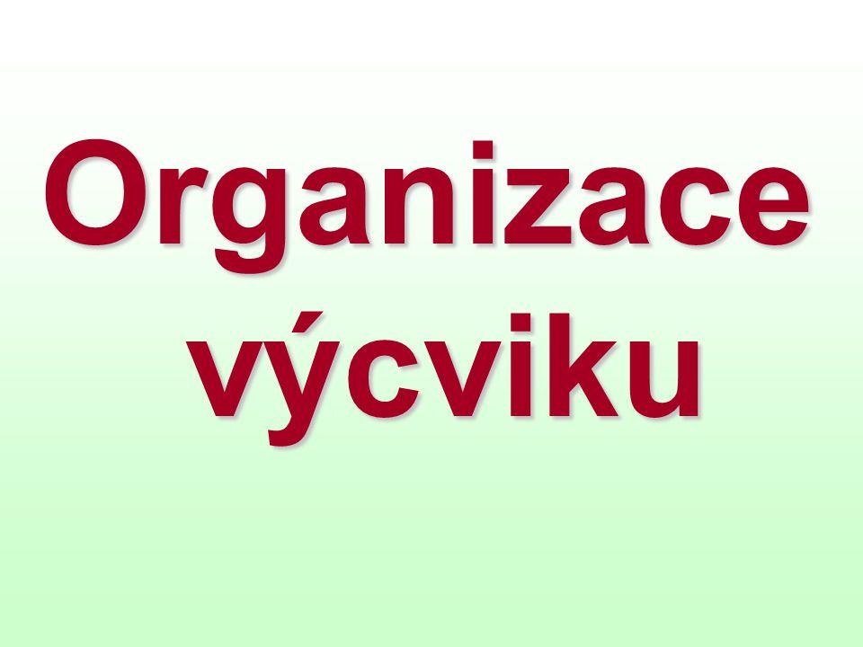 Organizace výcviku