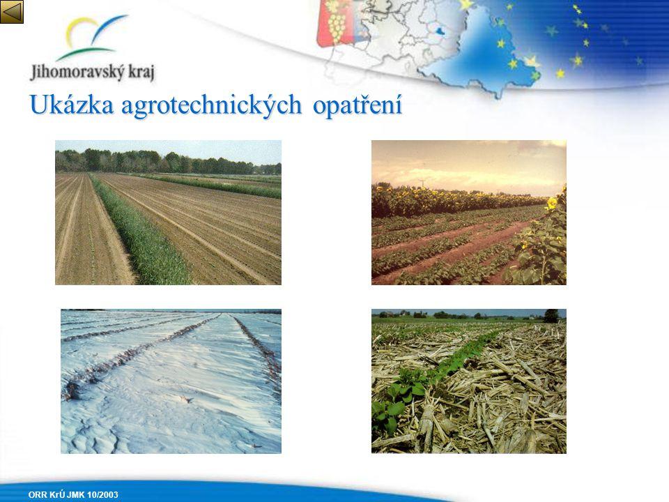 Ukázka agrotechnických opatření