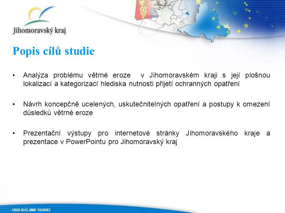 Popis cílů studie