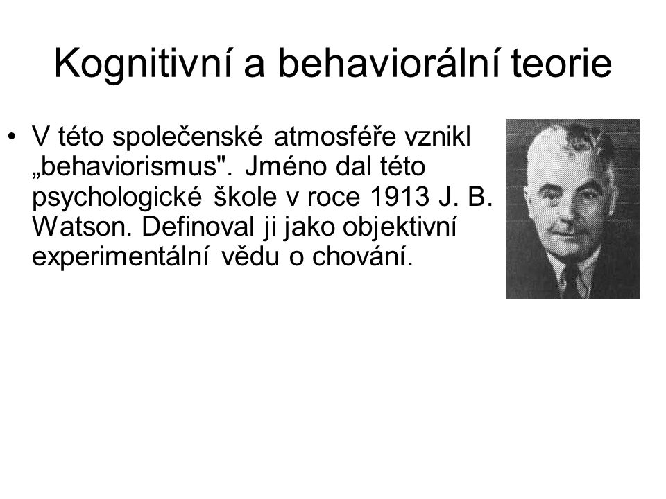 Kognitivní a behaviorální teorie