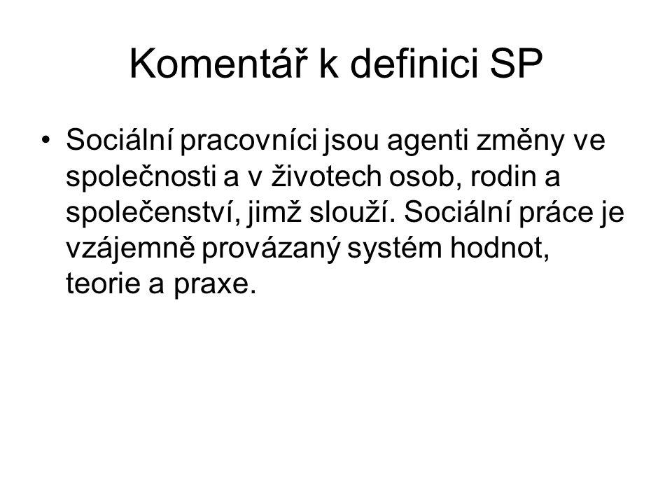 Komentář k definici SP