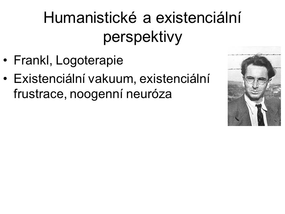 Humanistické a existenciální perspektivy