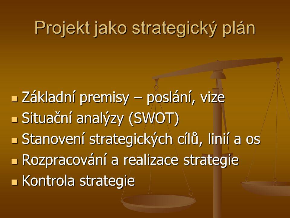 Projekt jako strategický plán