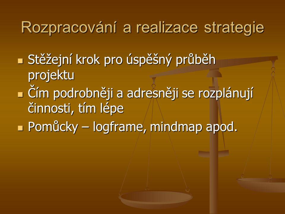 Rozpracování a realizace strategie