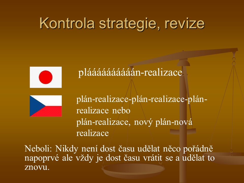 Kontrola strategie, revize