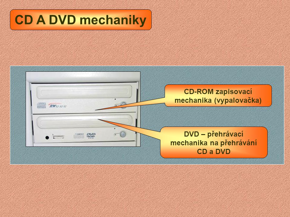 CD A DVD mechaniky CD-ROM zapisovací mechanika (vypalovačka)
