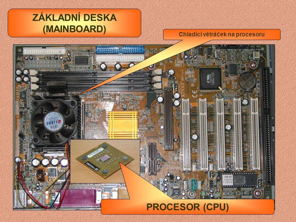ZÁKLADNÍ DESKA (MAINBOARD) Chladící větráček na procesoru