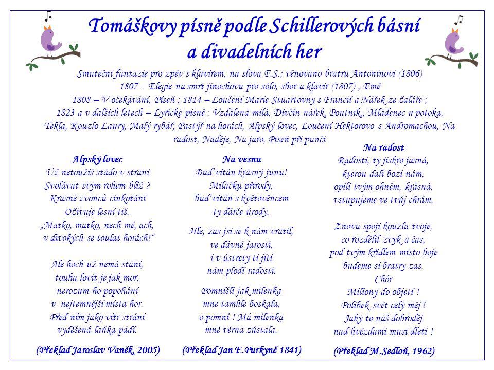 Tomáškovy písně podle Schillerových básní a divadelních her