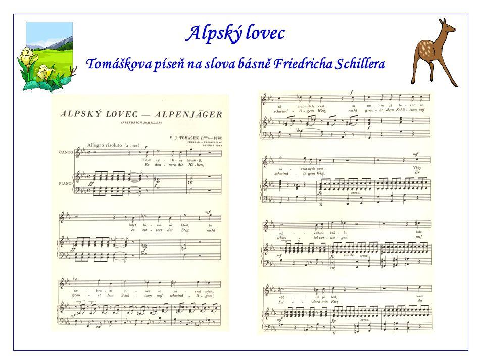 Tomáškova píseň na slova básně Friedricha Schillera