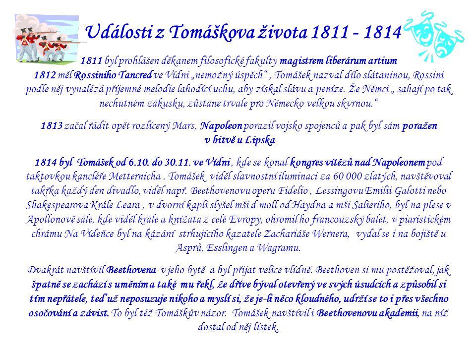 Události z Tomáškova života 1811 - 1814